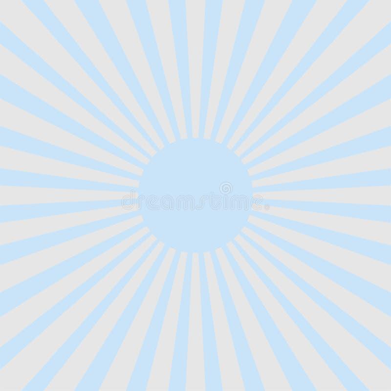 Fundo azul & cinzento da luz - do raio do sunburst do estilo do sumário ilustração royalty free