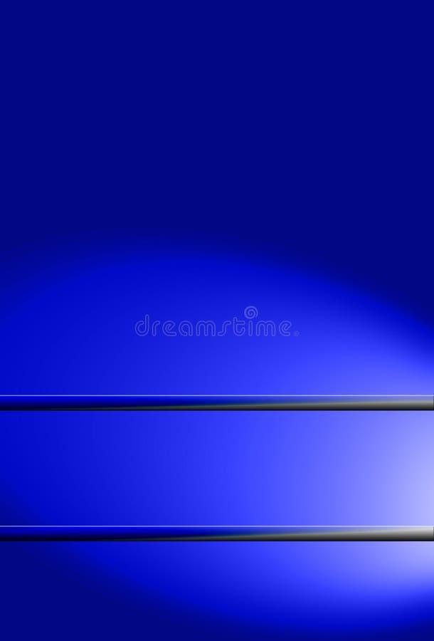 Fundo azul com área para o texto ilustração royalty free