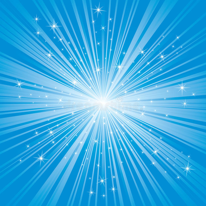 Fundo azul com estrelas ilustração stock