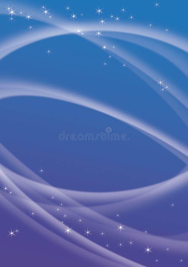 Fundo azul com estrelas ilustração do vetor