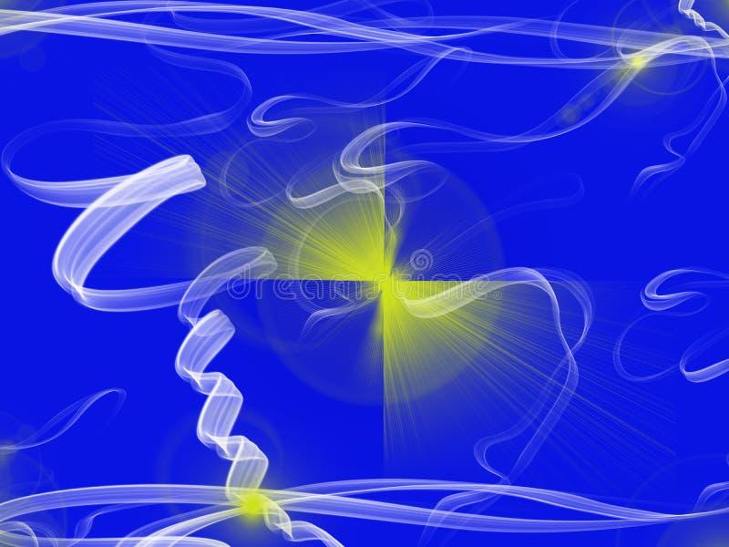 Fundo azul com formulários do fumo ilustração royalty free