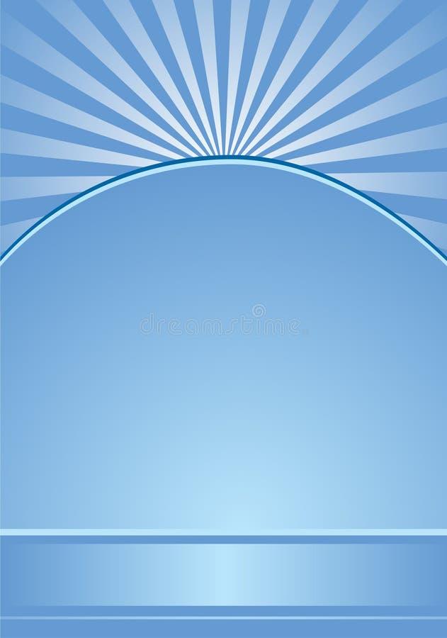Fundo azul com listras radiais ilustração royalty free