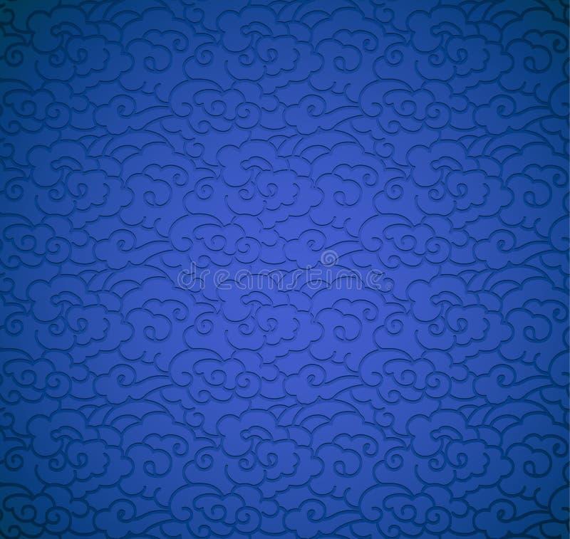 fundo azul com nuvens ilustração stock