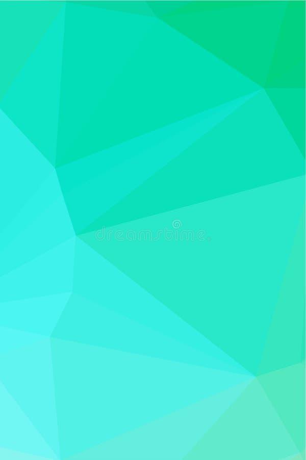 Fundo azul com polígono triangulares Baixo projeto poli abstrato Molde poligonal Ilustração moderna do vetor para o invBlue ilustração do vetor