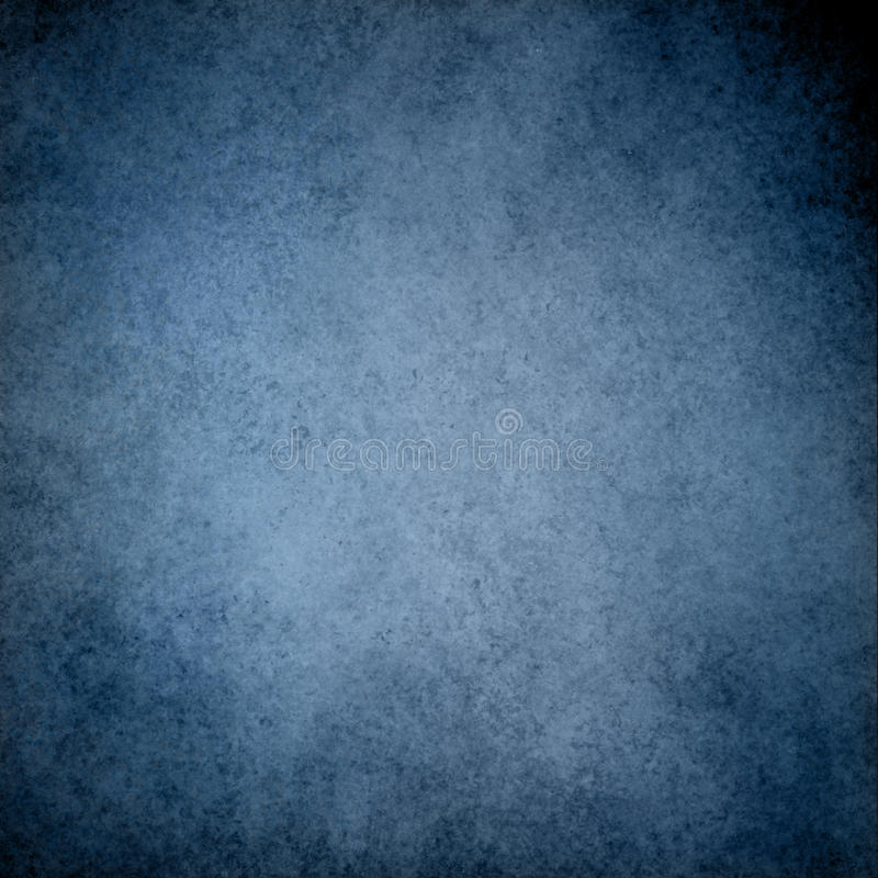Fundo azul com projeto da beira da textura do vintage do grunge e luz - centro azul foto de stock royalty free