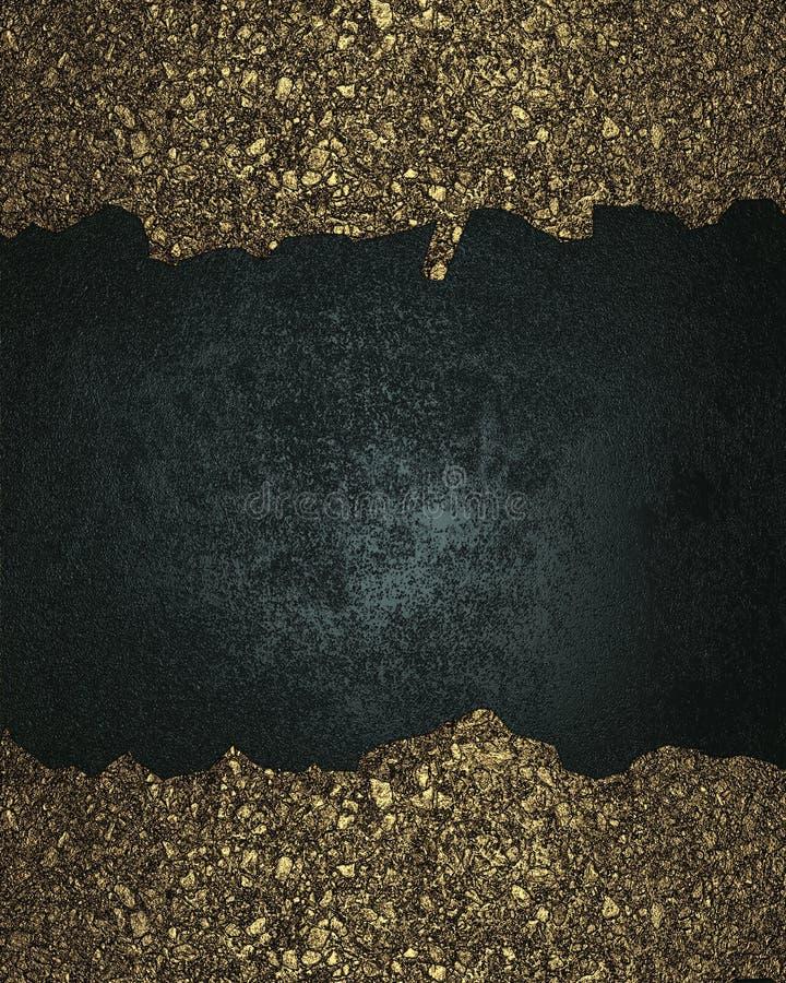 Fundo azul com quadros rachados do ouro Elemento para o projeto Molde para o projeto copie o espaço para o folheto do anúncio ou  ilustração royalty free