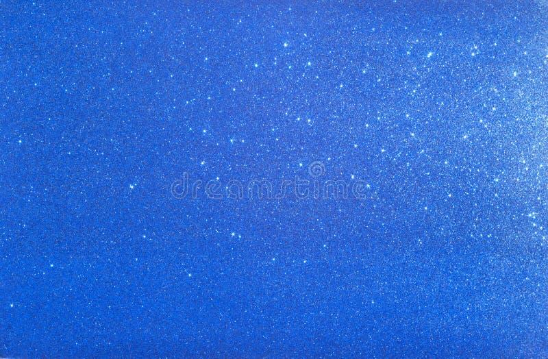 Fundo azul com sparkles imagem de stock royalty free