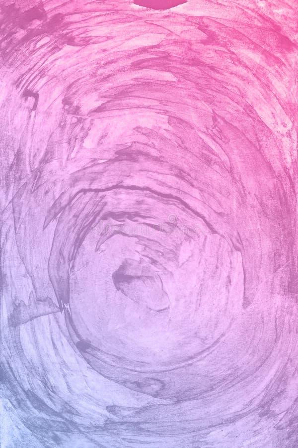 Fundo azul cor-de-rosa vermelho da pintura da aquarela Mão mágica da arte tirada imagens de stock royalty free