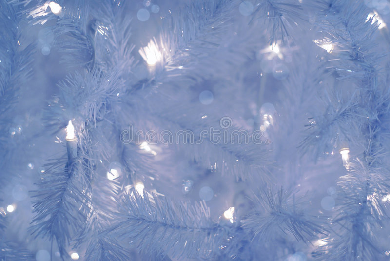 Fundo azul da árvore de Natal fotos de stock royalty free