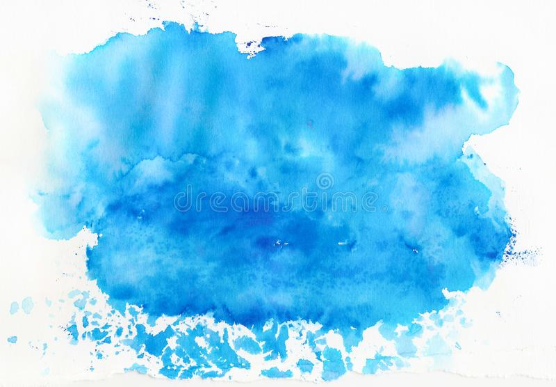 Fundo azul da aguarela fotos de stock royalty free