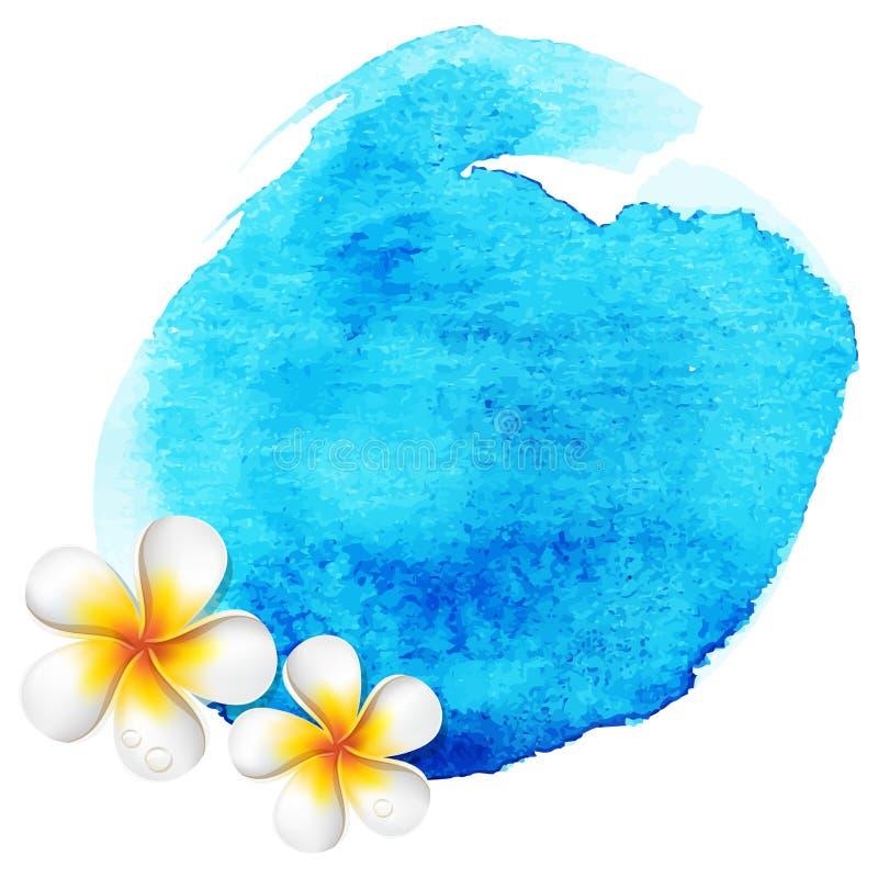 Fundo azul da aguarela ilustração royalty free