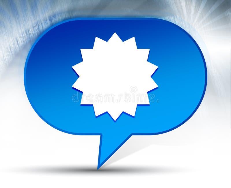 Fundo azul da bolha do ícone do crachá da estrela ilustração royalty free