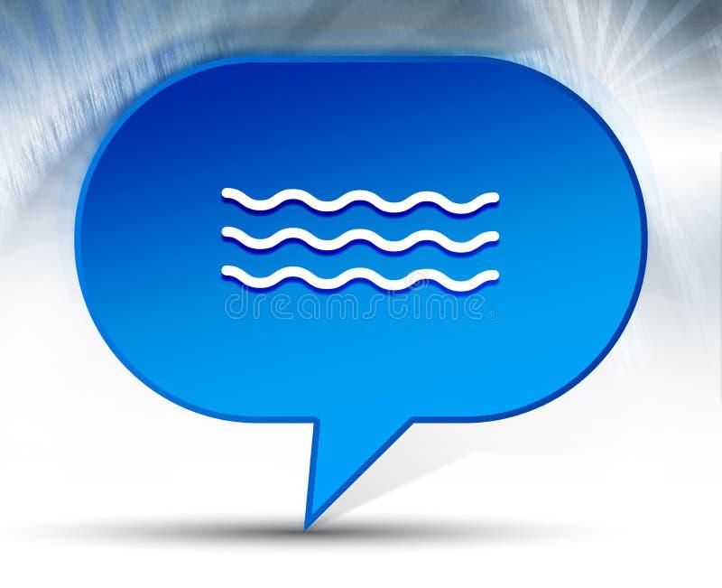 Fundo azul da bolha do ícone das ondas do mar ilustração royalty free