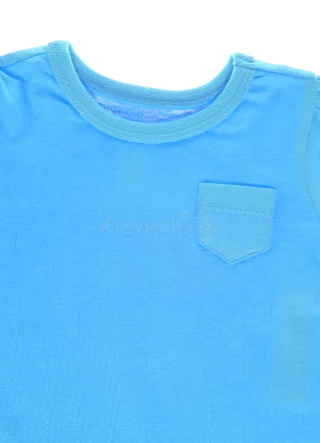 Fundo azul da camisa de T imagem de stock royalty free