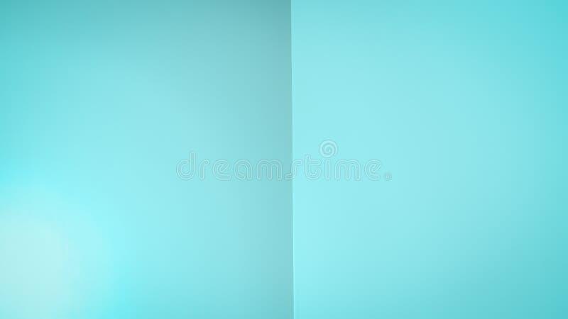 Fundo azul da cor do Aqua Cor da hortelã de turquesa 16:9 Fundo do inclinação dos sumários como um livro aberto foto de stock royalty free