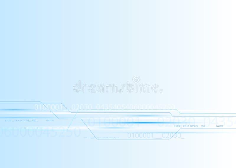 Fundo abstrato do azul da eletrônica ilustração do vetor