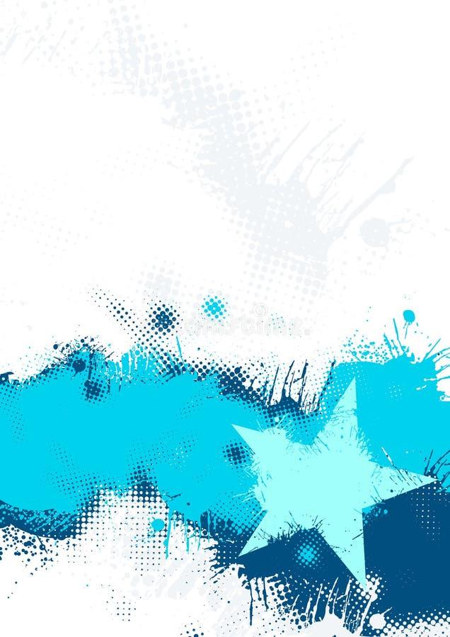 Fundo azul da estrela de Grunge ilustração do vetor