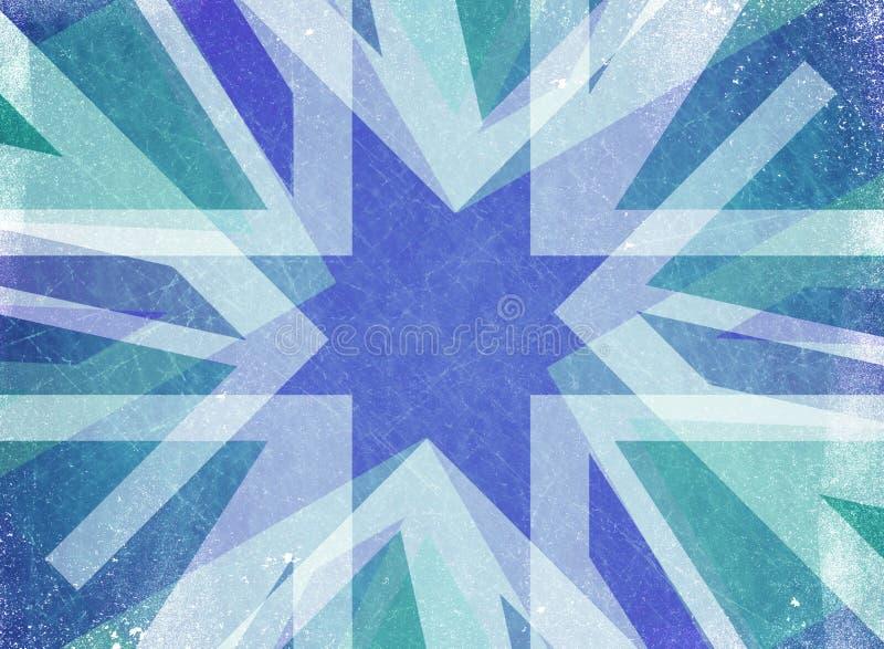 Fundo azul da estrela do Natal do grunge ilustração royalty free