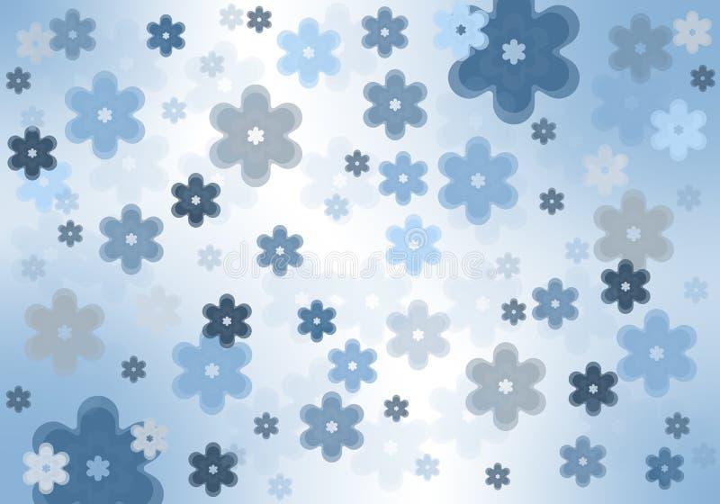 Fundo azul da flor ilustração royalty free