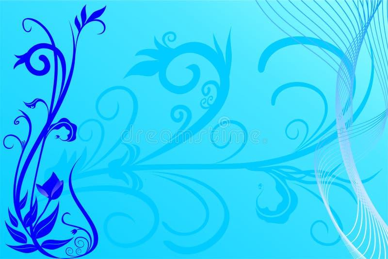 Fundo azul da flor ilustração stock