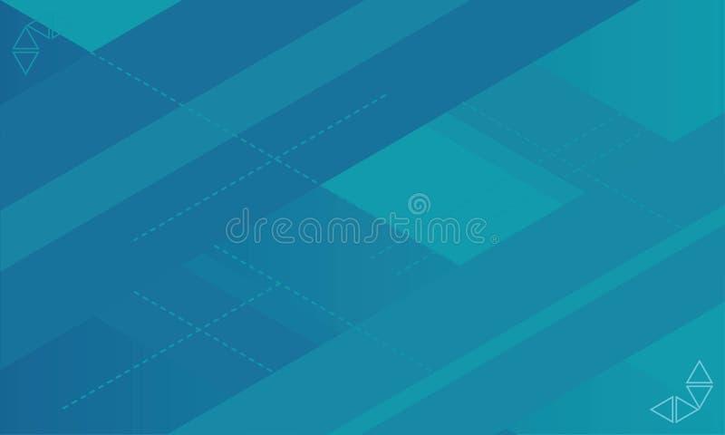 Fundo azul da forma do sumário fresco novo Fundo moderno claro Alinha o fundo ilustração do vetor