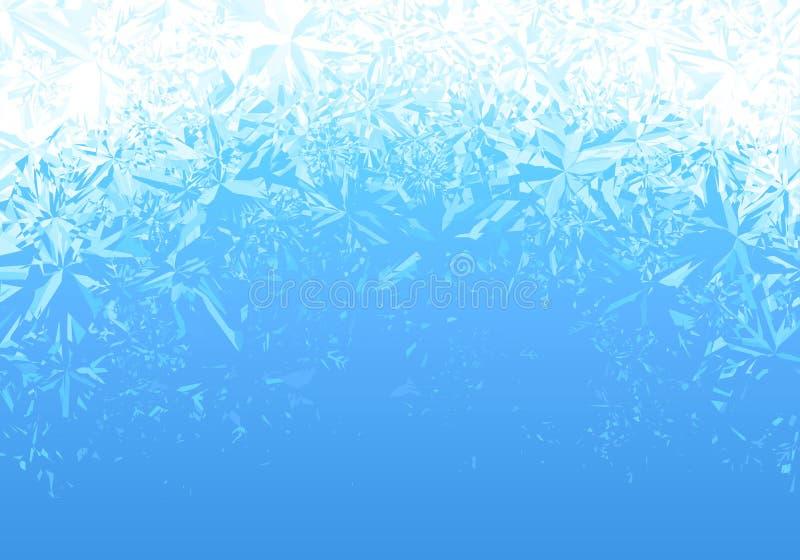 Fundo azul da geada do gelo do inverno ilustração royalty free