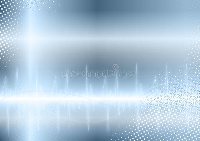 Fundo azul da onda sadia ilustração royalty free