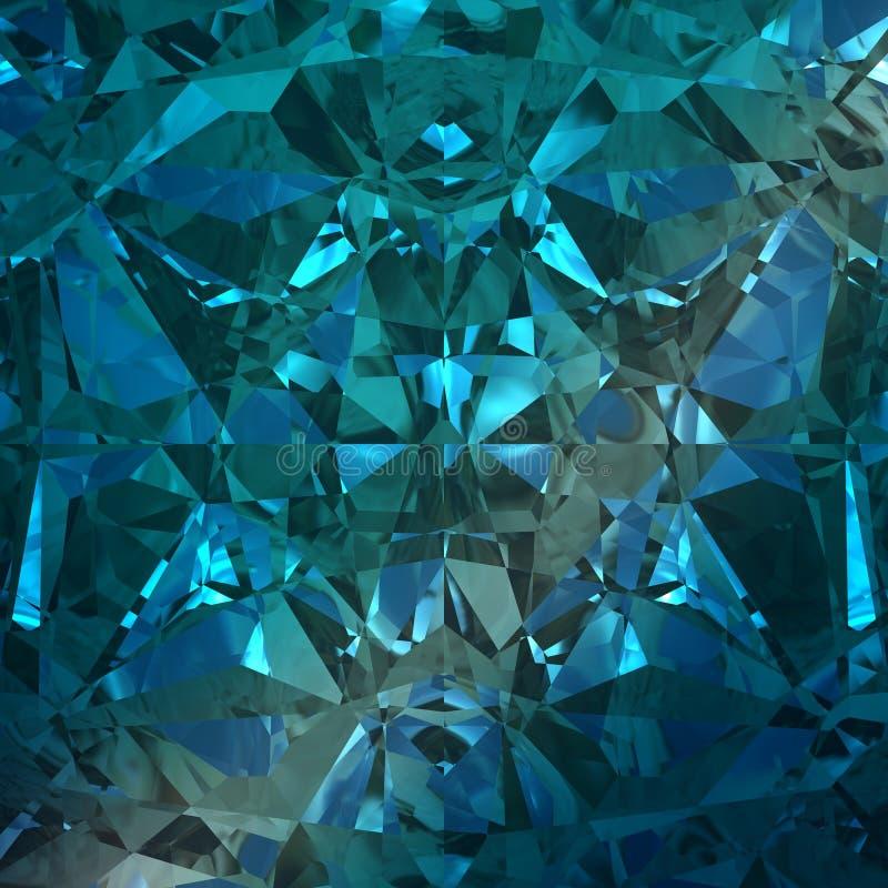 Fundo azul da pedra preciosa da joia ilustração stock