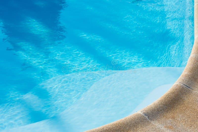 Fundo azul da piscina ver?o e fotos de stock royalty free