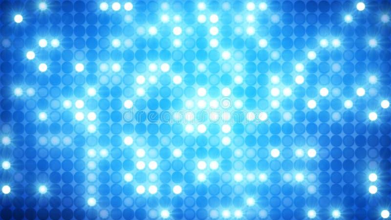Fundo azul de brilho da parede do disco do mosaico ilustração royalty free