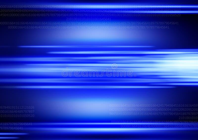 Fundo azul de Digitas ilustração stock