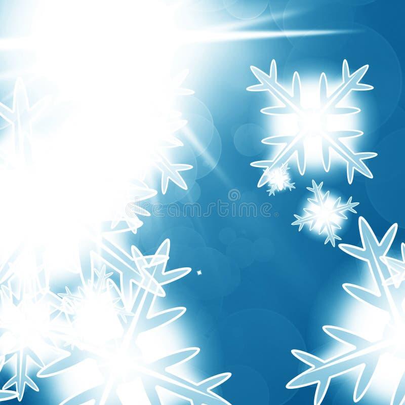 Fundo azul do bokeh do inverno ilustração royalty free