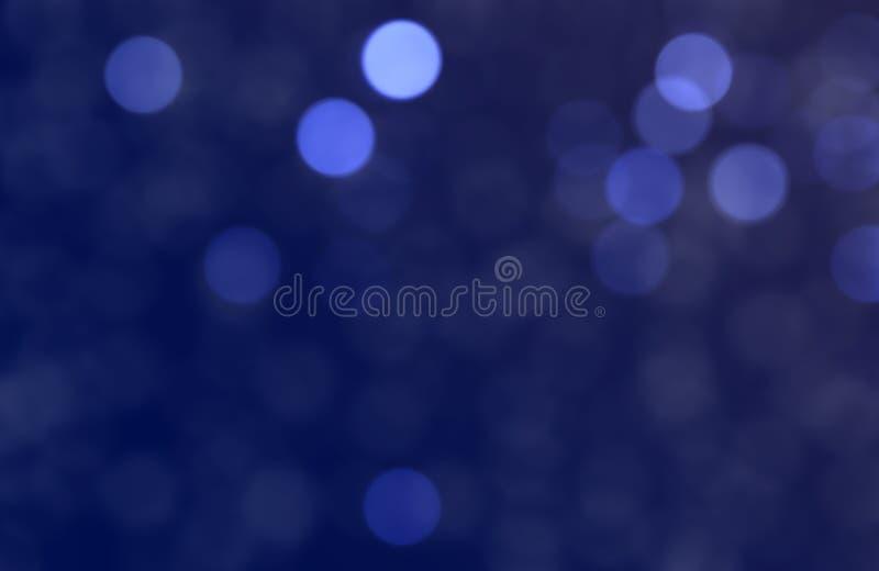 Fundo azul do bokeh do humor de Christmass fotos de stock royalty free