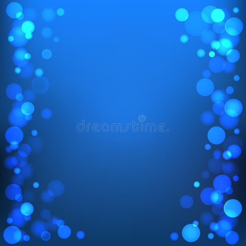Fundo azul do bokeh do vetor ilustração royalty free
