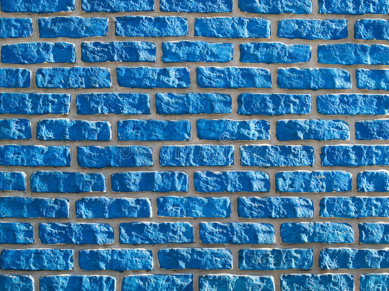 Fundo azul do brickwall. foto de stock royalty free