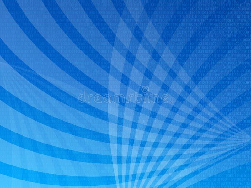 Fundo azul do código binário ilustração do vetor