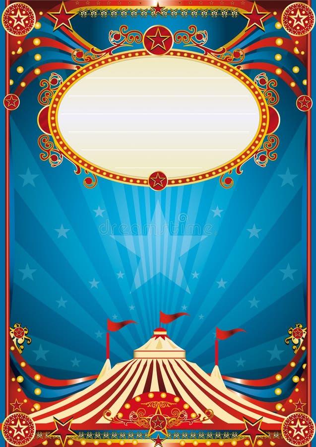 Fundo azul do circo ilustração stock
