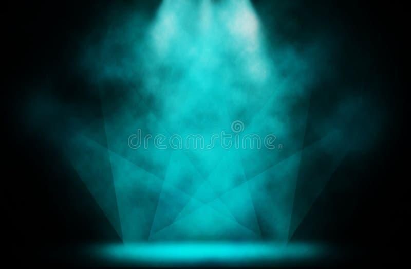 Fundo azul do disco do projetor da mostra da fase ilustração royalty free