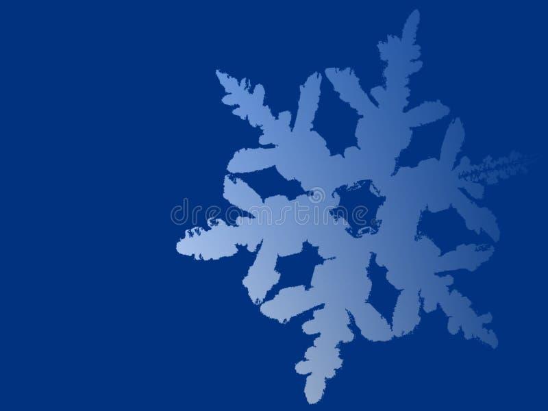 Fundo azul do floco de neve ilustração do vetor