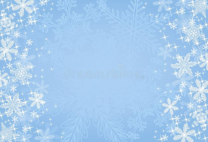 Fundo azul do floco de neve do Natal ilustração royalty free