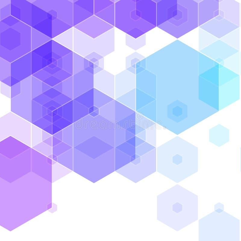 Fundo azul do hex?gono disposi??o poligonal do estilo para anunciar Eps 10 ilustração do vetor