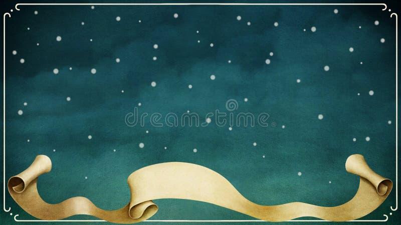 Fundo azul do inverno ilustração stock