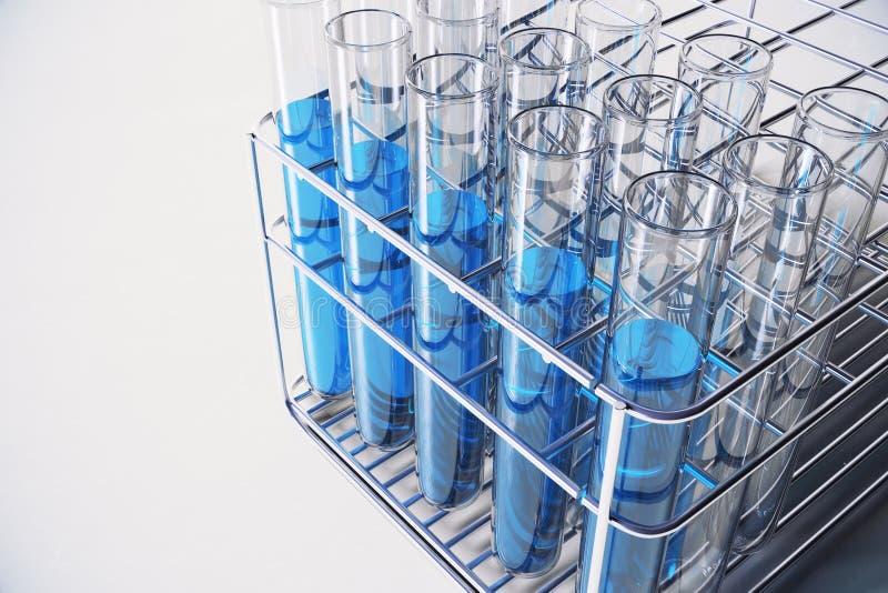 Fundo azul do laboratório ilustração stock