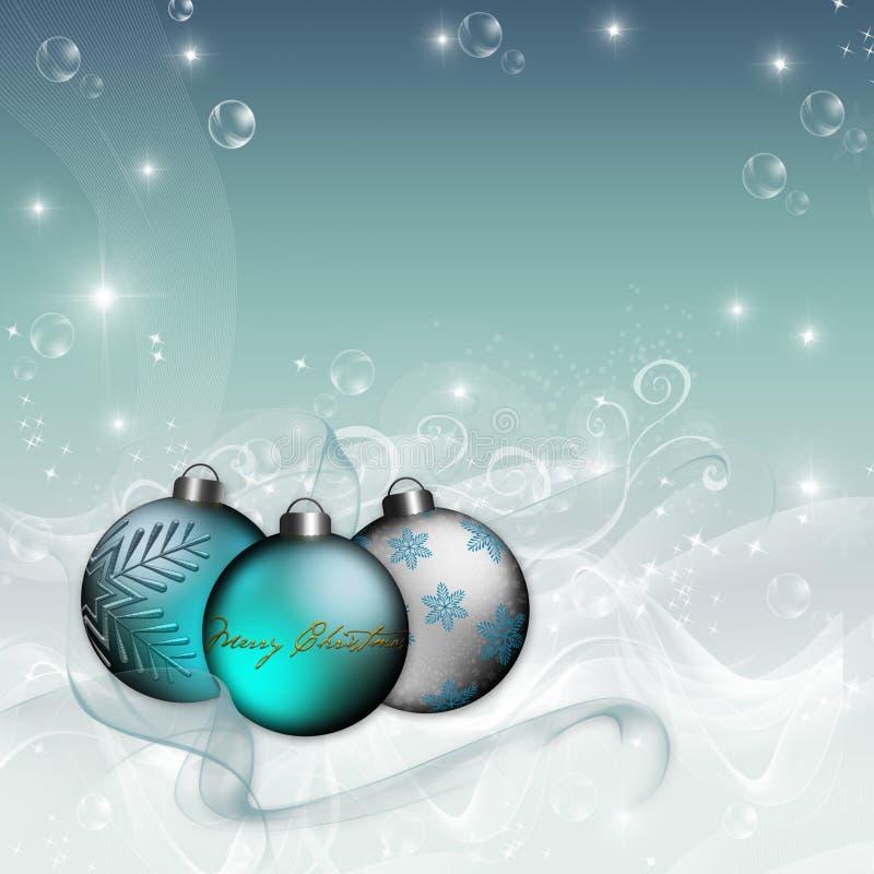 Fundo azul do Natal do ornamento ilustração stock