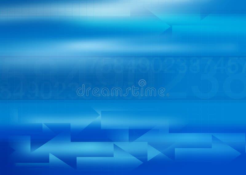 Fundo azul do negócio com spac da cópia ilustração royalty free