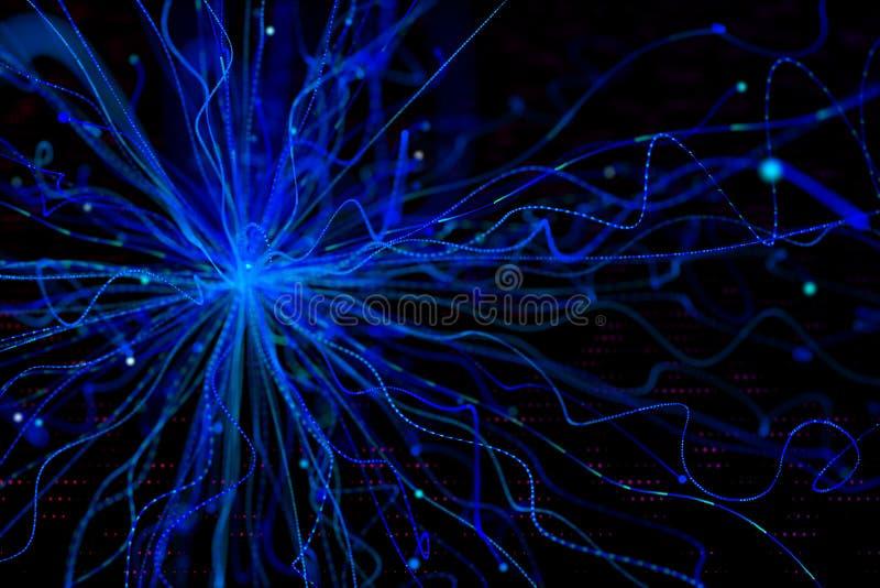 Fundo azul do neurônio ilustração royalty free
