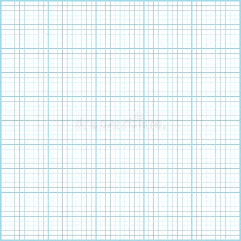 Fundo azul do papel do milímetro ilustração royalty free