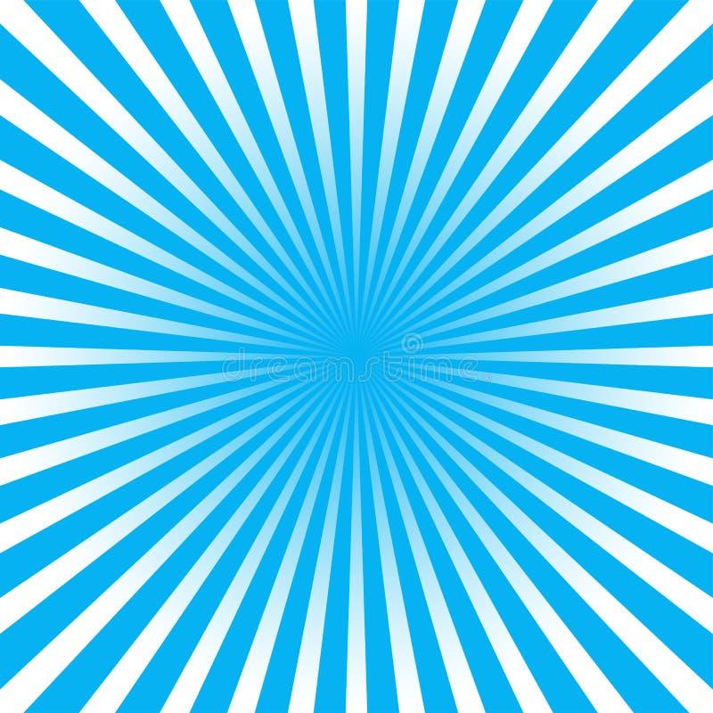 Fundo azul do raio ilustração royalty free
