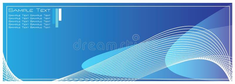 Fundo azul do sumário do molde da alta qualidade ilustração royalty free