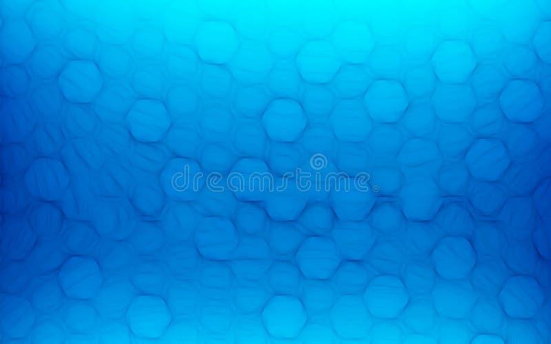 Fundo azul do sumário do favo de mel Papel de parede e concep da textura foto de stock royalty free